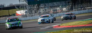 Racing on track at Silverstone, BRITCAR Silverstone Trophy, April 2021