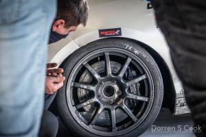 Racing tyre close up, BRITCAR Silverstone Trophy, April 2021
