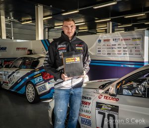 Matty Street post race, driver of the day, BRITCAR Silverstone Trophy, April 2021