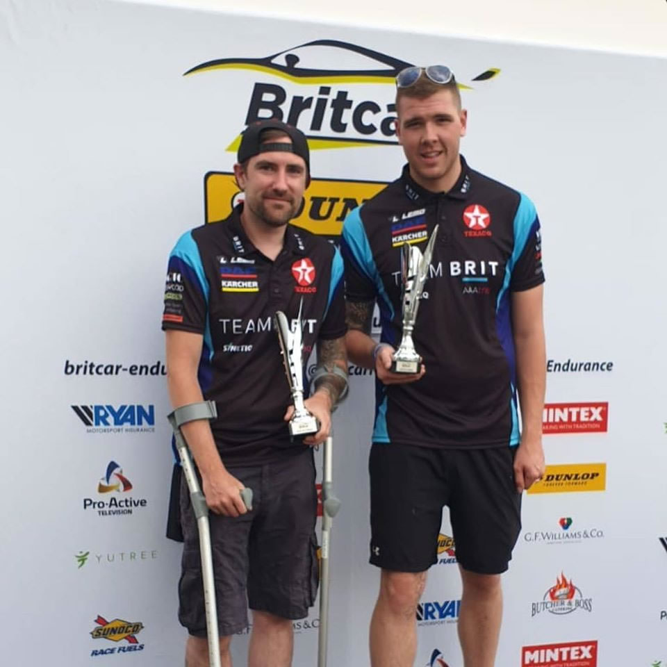Matty Street and Andy on the podium